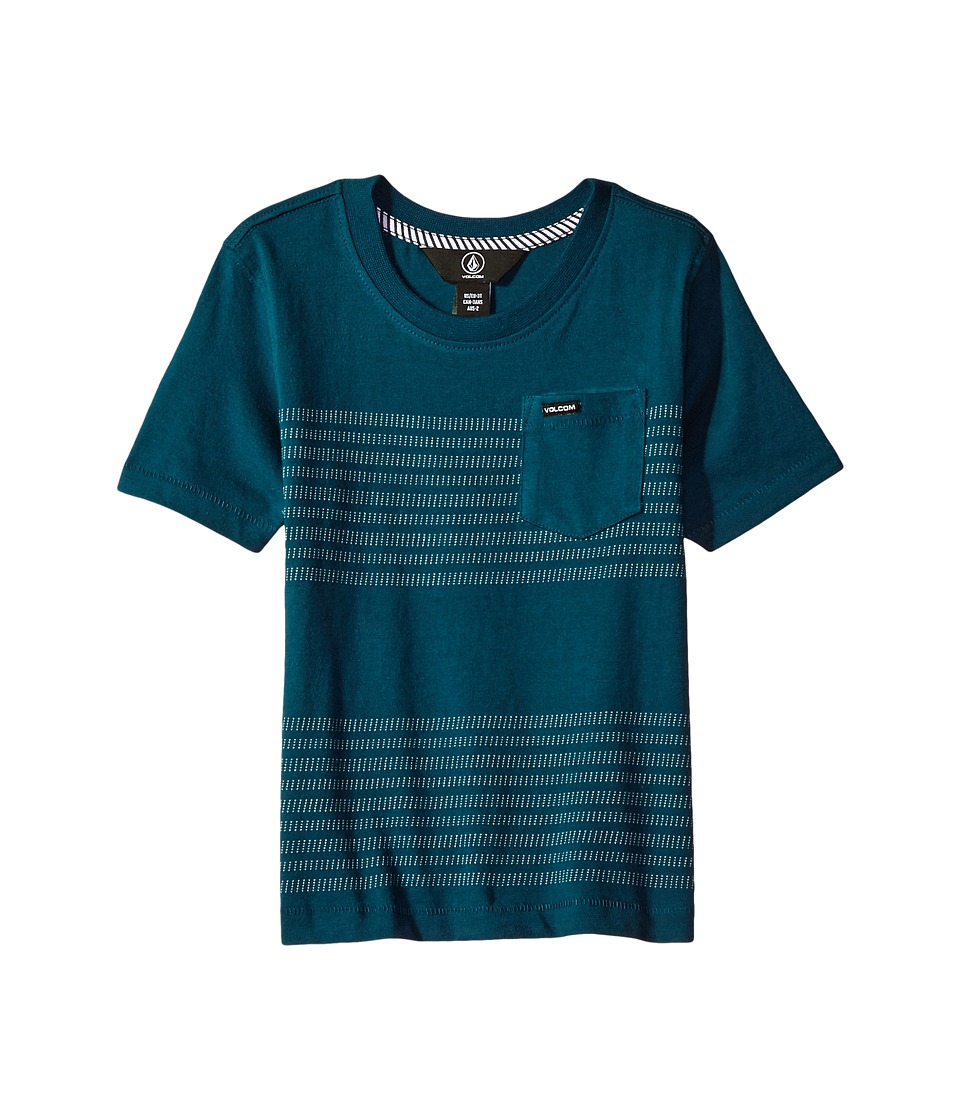 Volcom Kids - Banded Crew Short Sleeve (Toddler/Little Kids) (Flight Blue) Boy's T Shirt