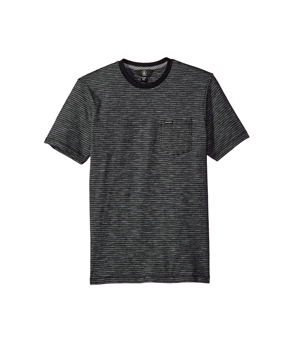 Volcom Kids - Bonus Crew Short Sleeve (Big Kids) (Black) Boy's T Shirt