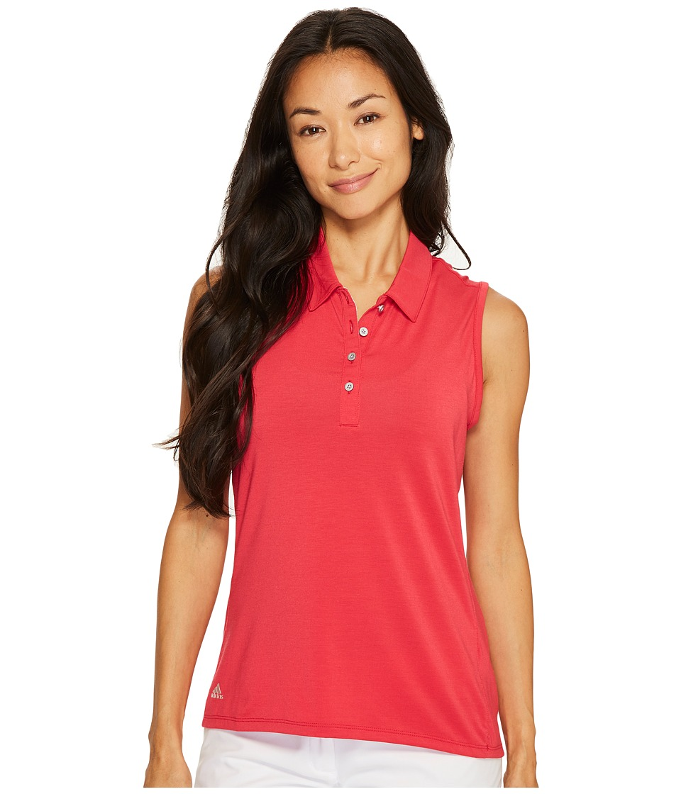adidas Golf - Essentials Sleeveless Polo (Energy Pink) Women's Sleeveless