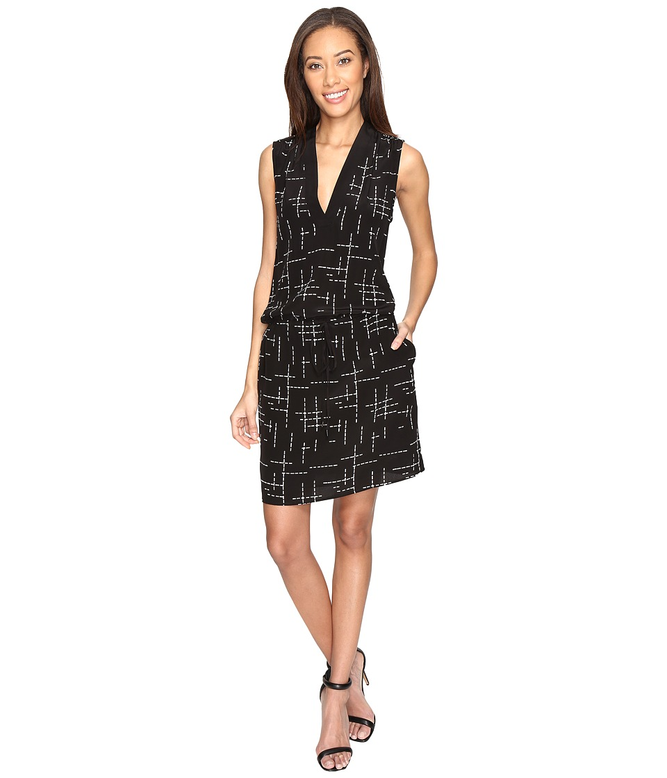 Pendleton - Day and Night Dress (Black Grid Print) Women's Dress