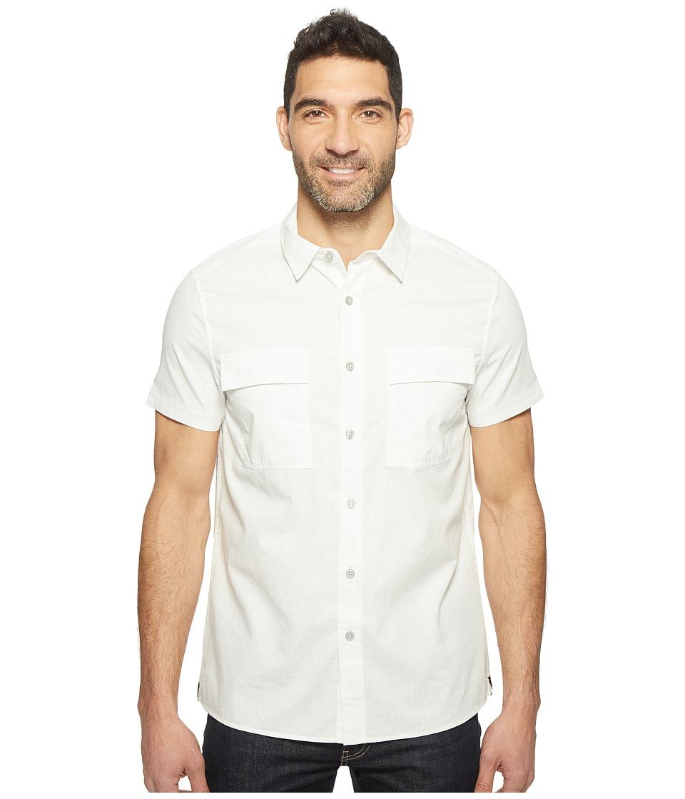 Kenneth Cole Sportswear - Short Sleeve Military Shirt (Heather Grey Combo) Men's Clothing
