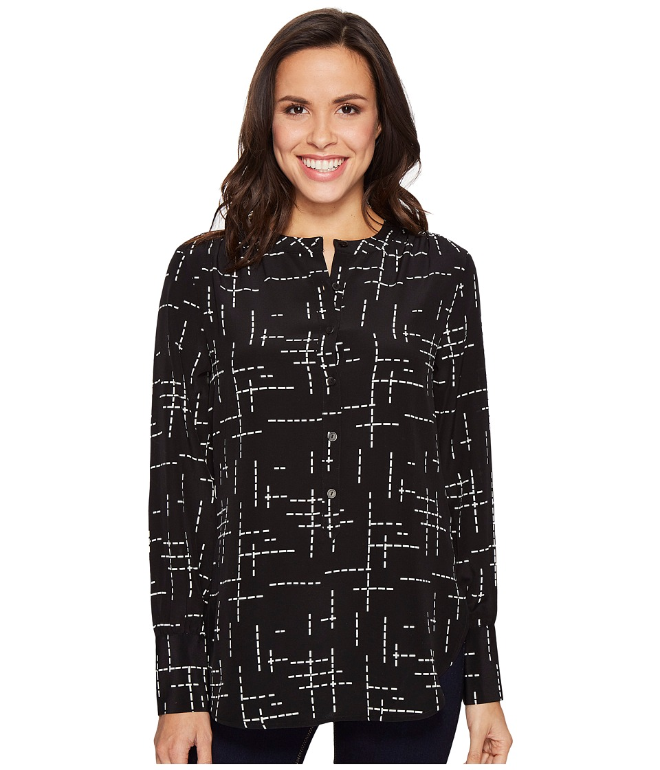 Pendleton - Day and Night Tunic (Black Grid Print) Women's Blouse