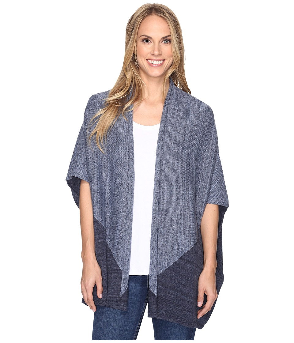 Pendleton - Colorblock Poncho (Blue Heather Multi) Women's Sweater