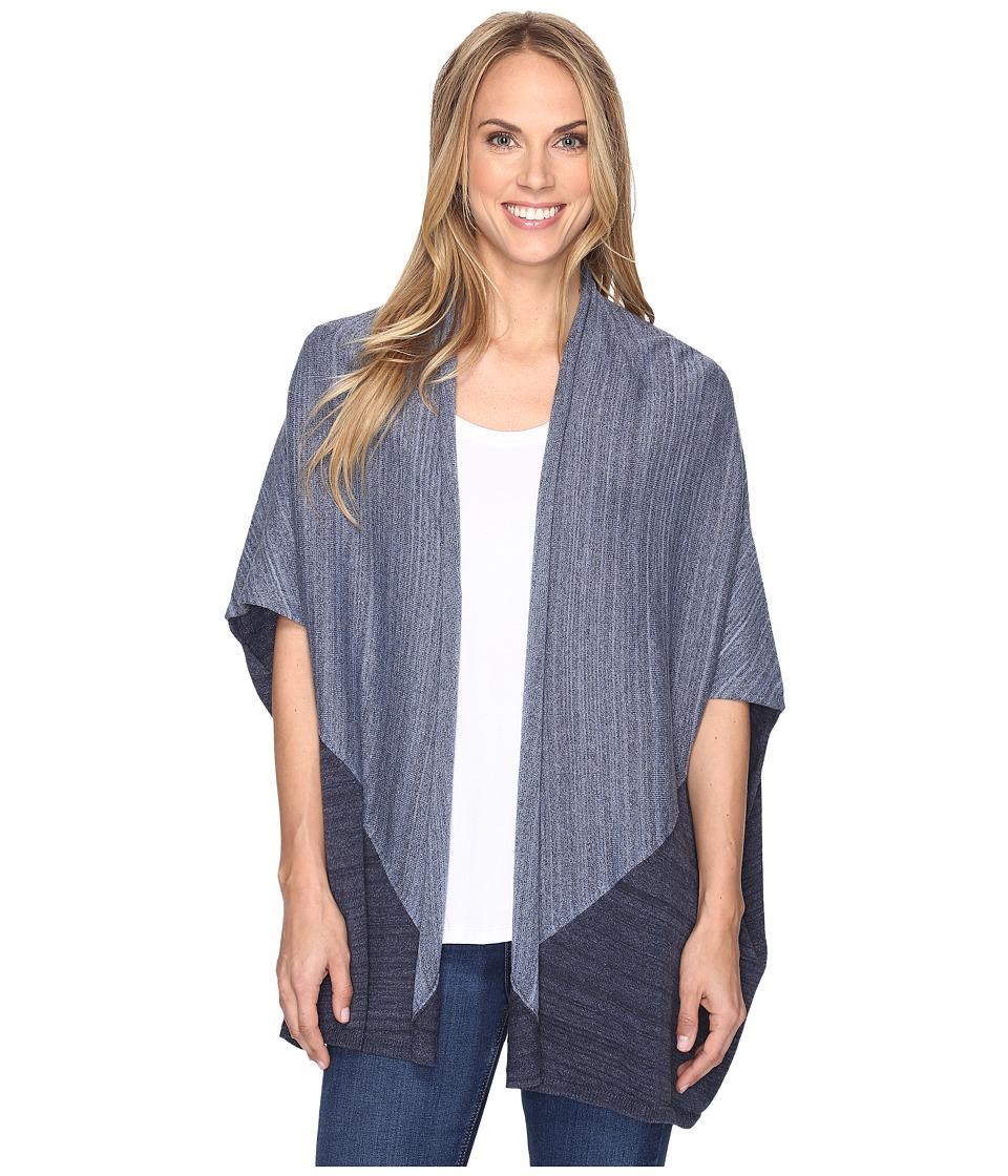 Pendleton - Colorblock Poncho (Blue Heather Multi) Women's Sweater