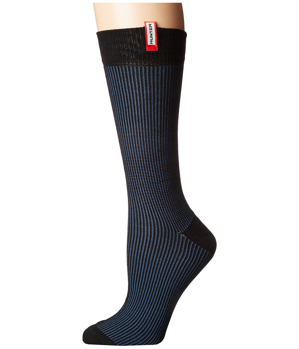 Hunter - Original Underknit Pleated Sock (Dusty Petrol) Women's Crew Cut Socks Shoes