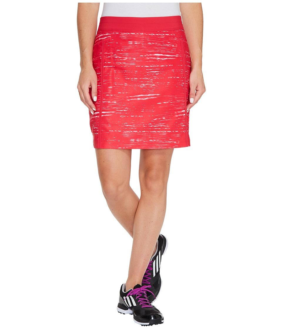 adidas Golf Ultimate Adistar Printed Skorts (Streak Pink/Energy Pink) Women