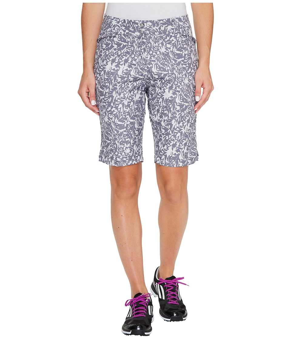 adidas Golf - Essentials Printed Bermuda Shorts (Trace Grey) Women's Shorts