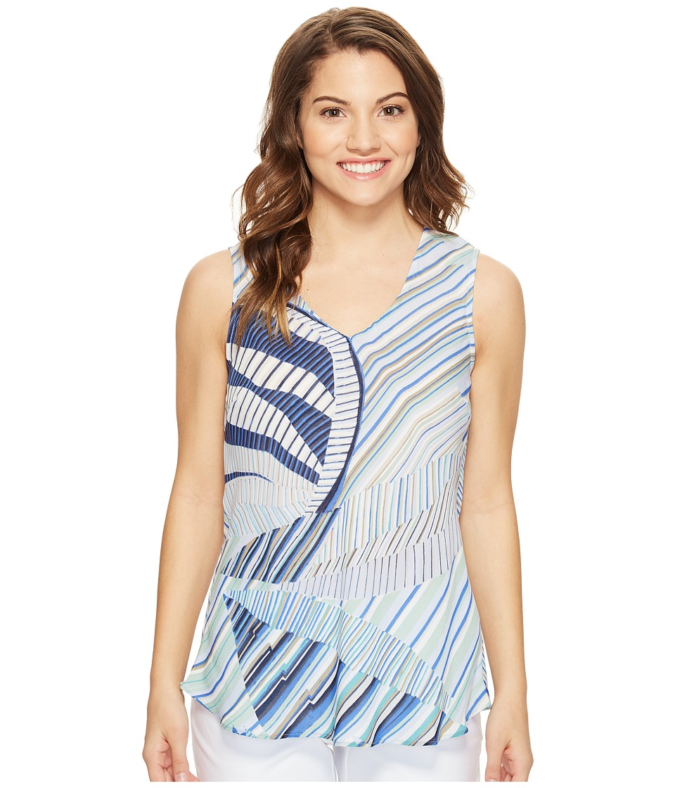 NIC+ZOE - Petite Palm Lines Tank Top (Multi) Women's Sleeveless