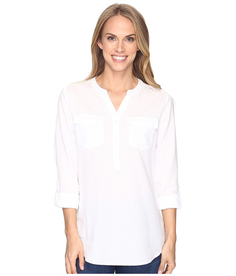 Pendleton - Roll Sleeve Easy Shirt (White) Women's Clothing