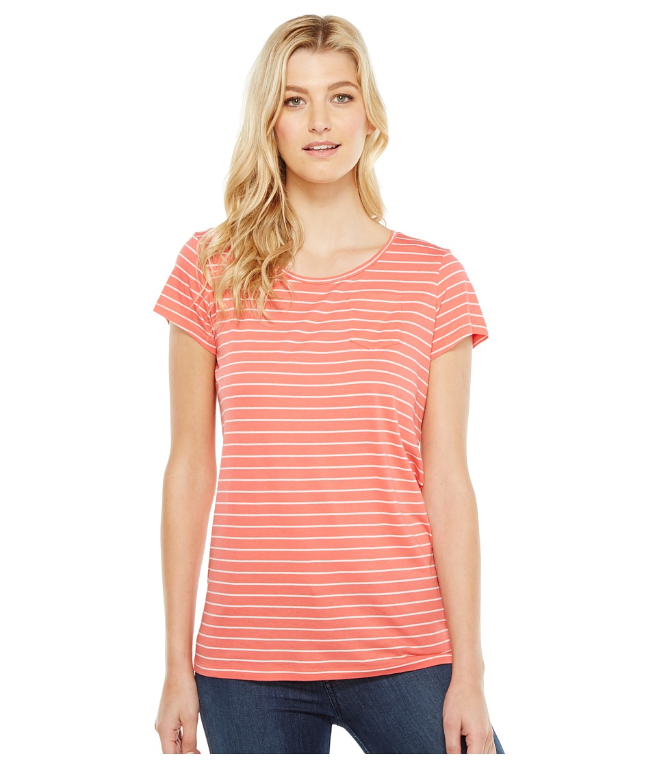 Pendleton - Summer Stripe Tee (Coral Pink/White) Women's T Shirt