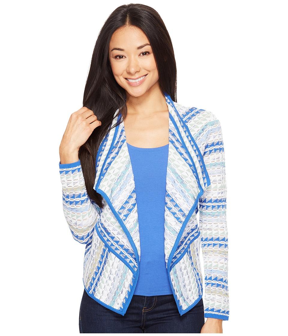 NIC+ZOE - Petite Prism Stitch Cardy (Multi) Women's Sweater