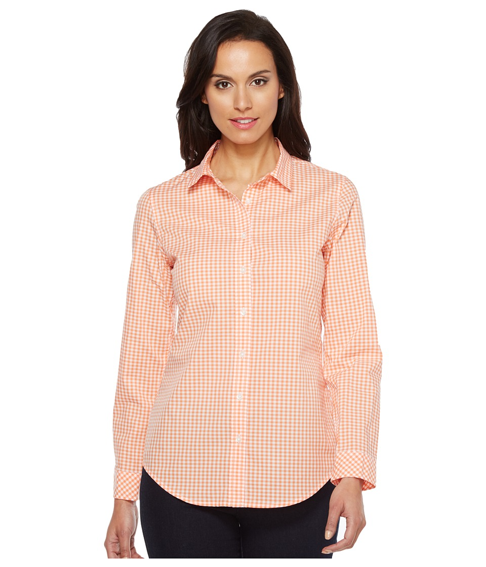 Pendleton - Gingham Shirt (Melon/White Gingham) Women's Clothing