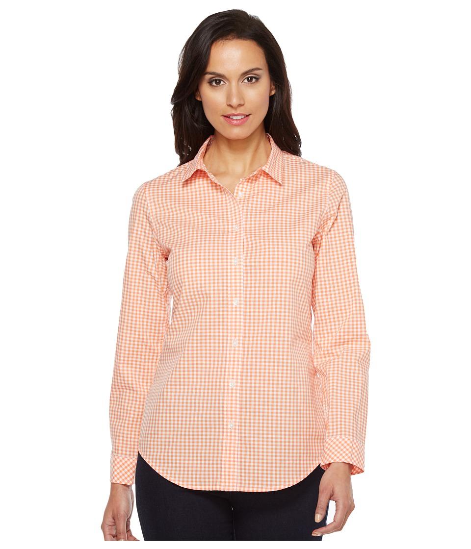 Pendleton - Gingham Shirt (Melon/White Gingham) Women's Clothing