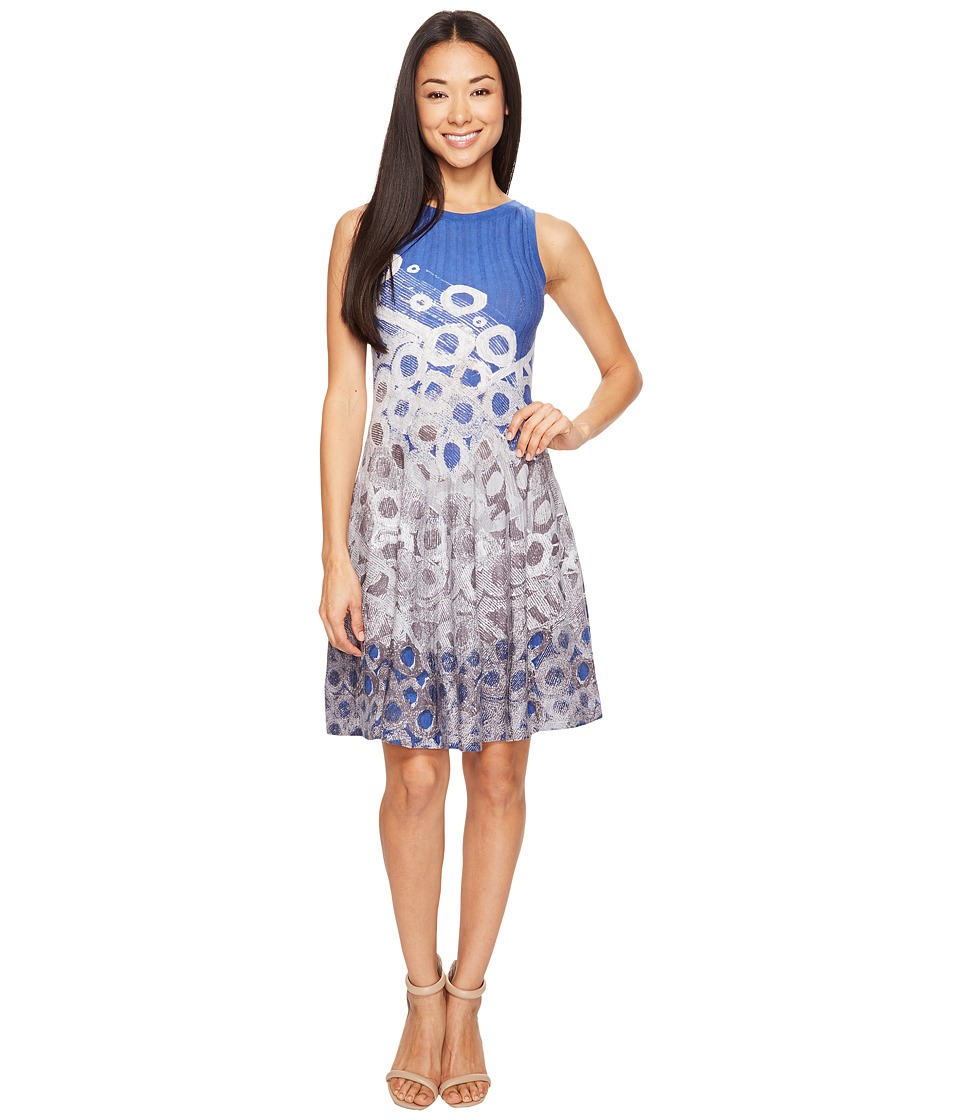 NIC+ZOE - Petite Rain Drops Twirl Dress (Multi) Women's Dress