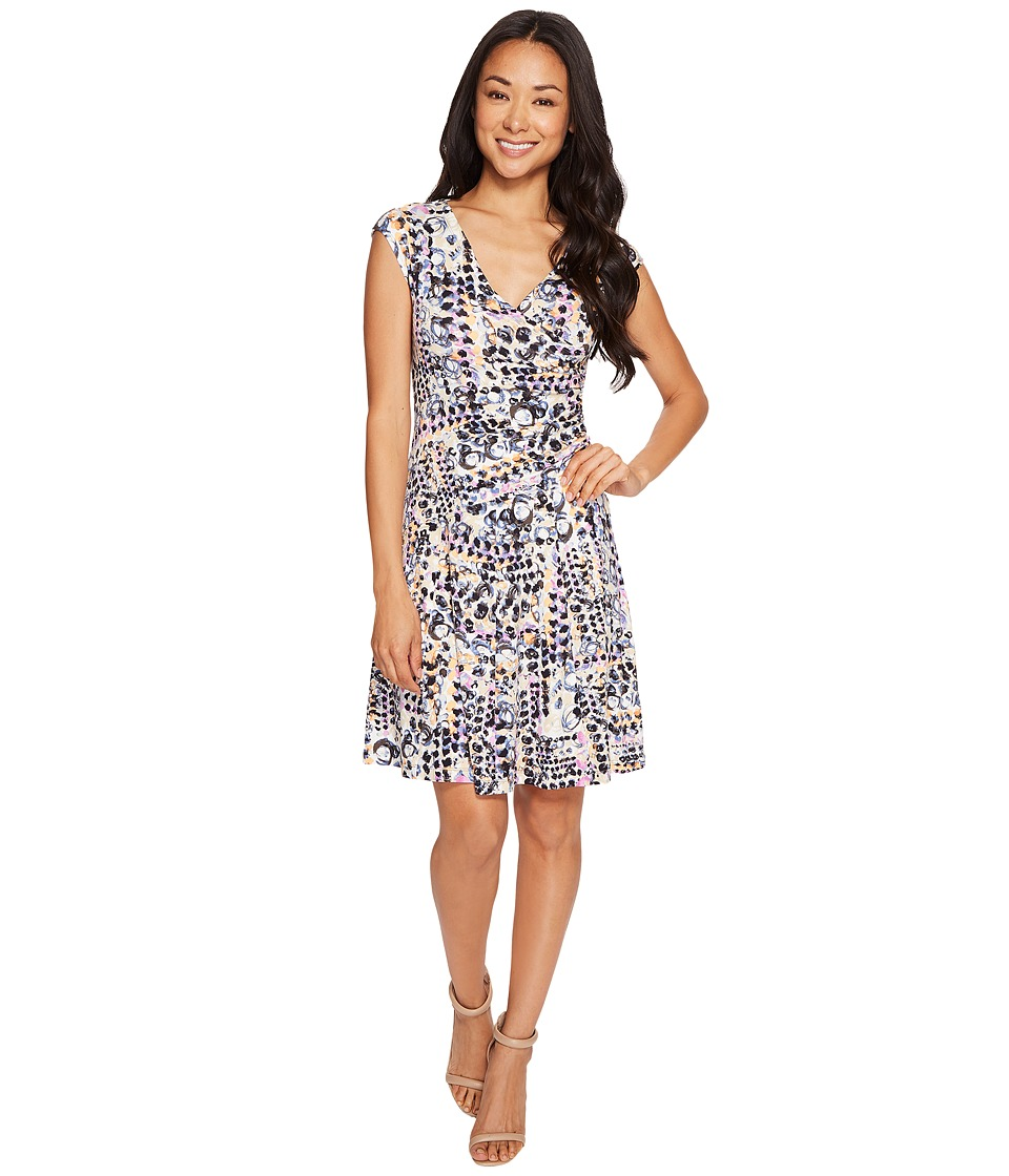 NIC+ZOE - Petite Bright Lights Wrap Dress (Multi) Women's Dress