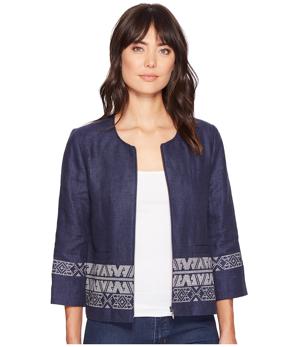 Pendleton - Embroidered Zip Jacket (Indigo) Women's Jacket