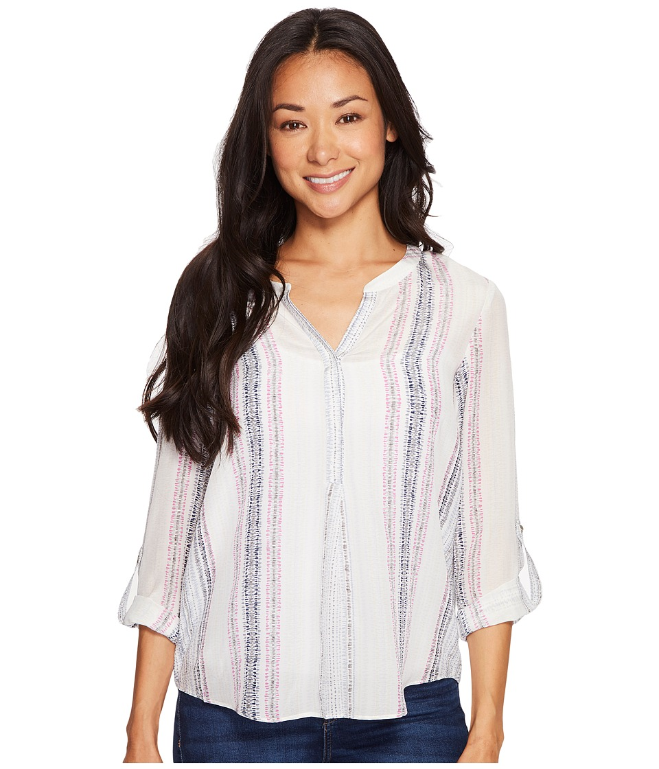 NIC+ZOE - Petite Stitch Lines Top (Multi) Women's Clothing