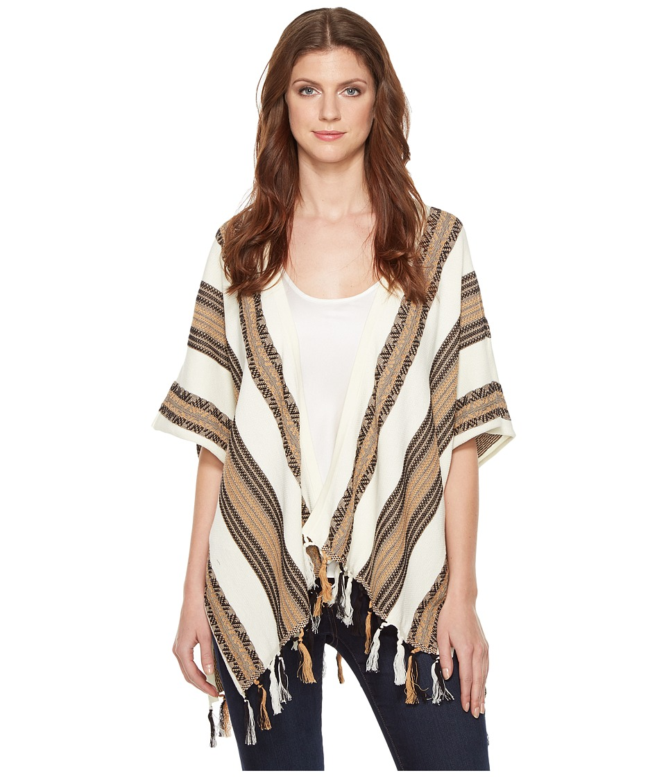 Pendleton - Fringed Poncho (Ivory Multi) Women's Sweater