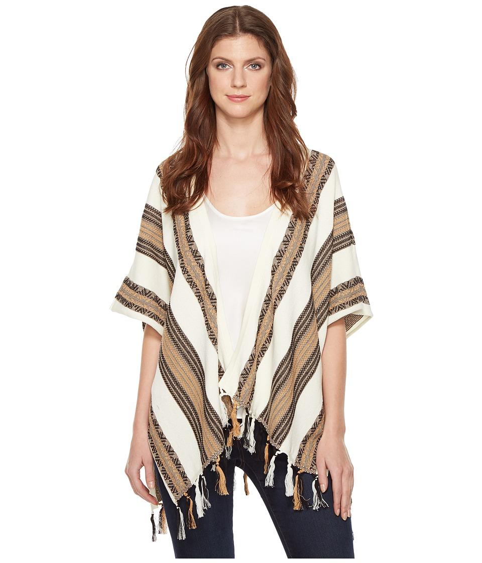 Pendleton - Fringed Poncho (Ivory Multi) Women's Sweater