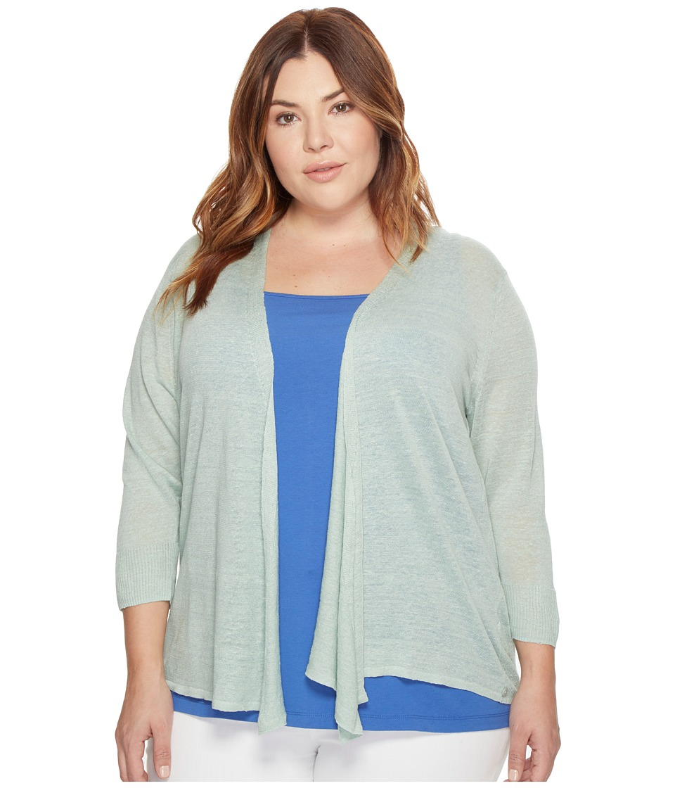 NIC+ZOE - Plus Size 4-Way Cardy (Pistachio) Women's Sweater
