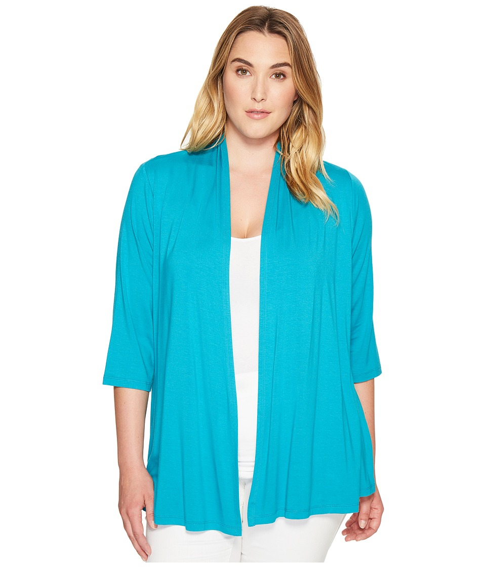 Karen Kane Plus - Plus Size Molly Cardigan (Turquoise) Women's Sweater
