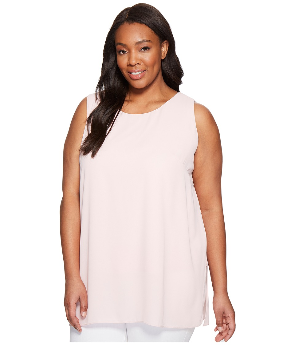 Karen Kane Plus - Plus Size Crossover Slit Tunic (Shell) Women's Blouse