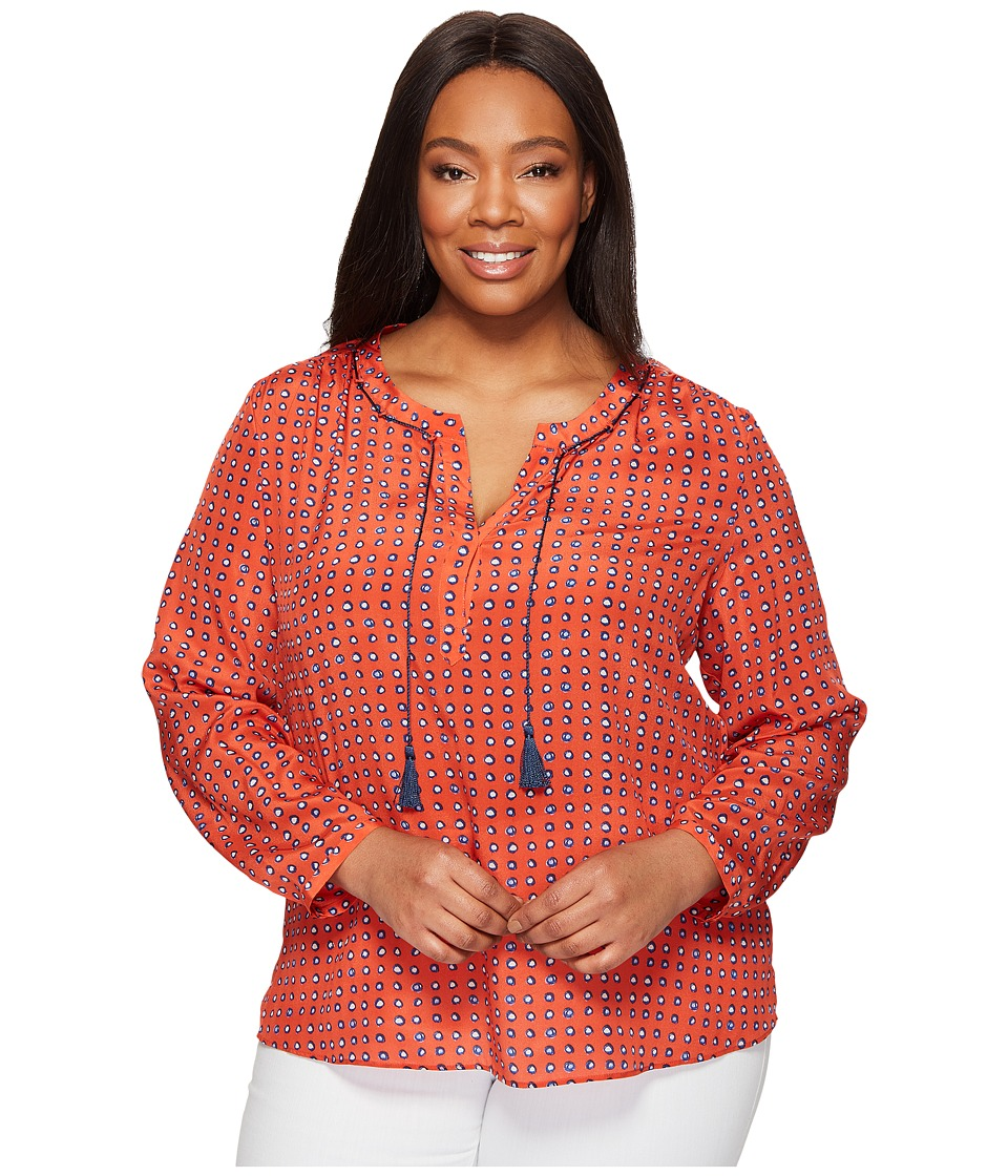 NIC+ZOE - Plus Size Vivid Dot Top (Multi) Women's Clothing