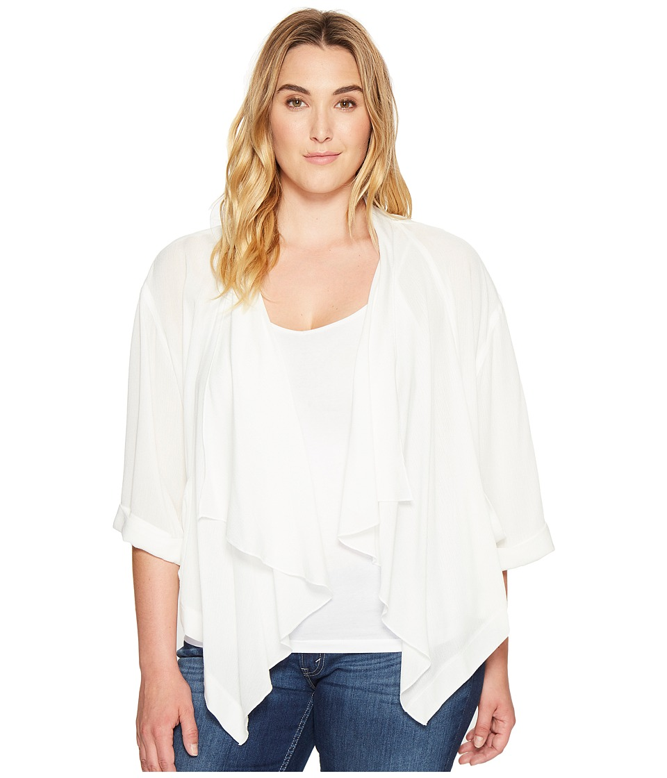 Karen Kane Plus - Plus Size Drape Jacket (Off-White) Women's Coat