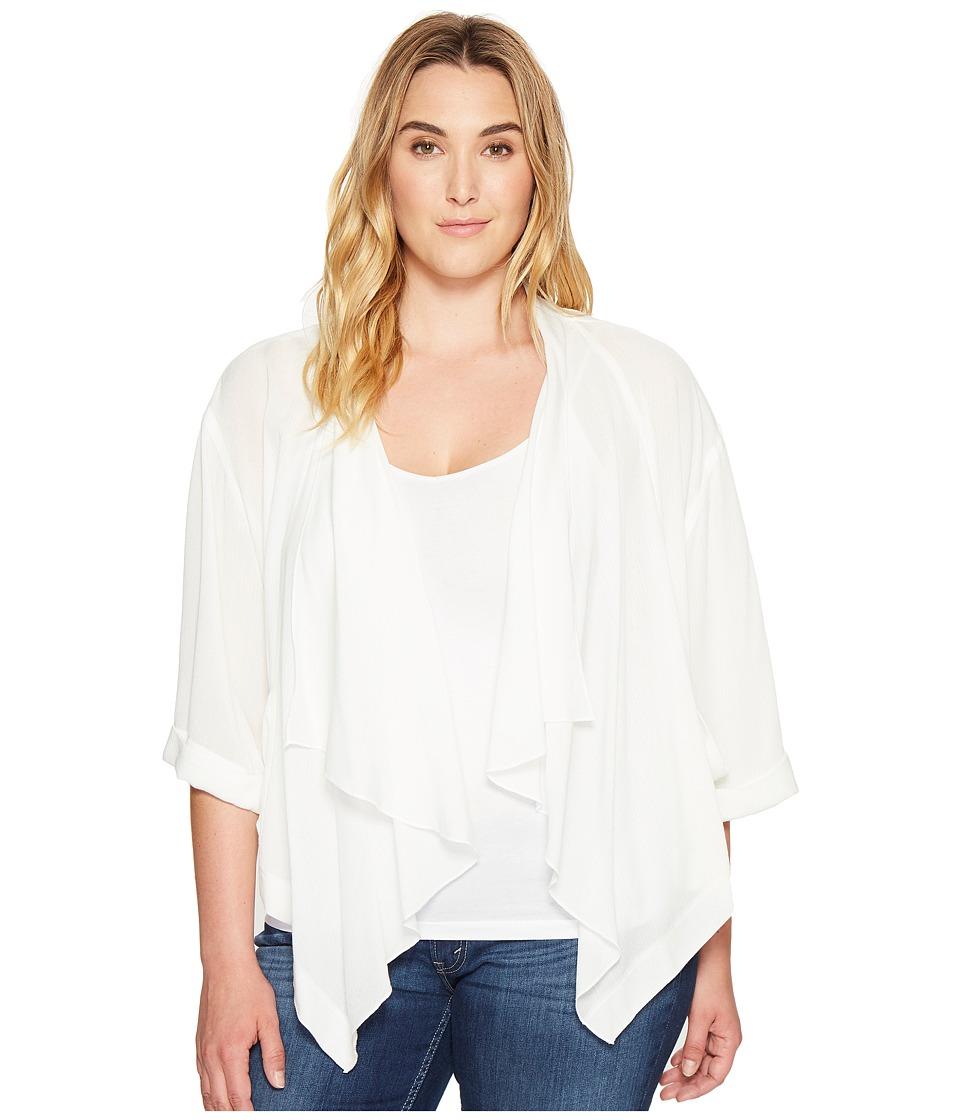 Karen Kane Plus - Plus Size Drape Jacket (Off-White) Women's Coat