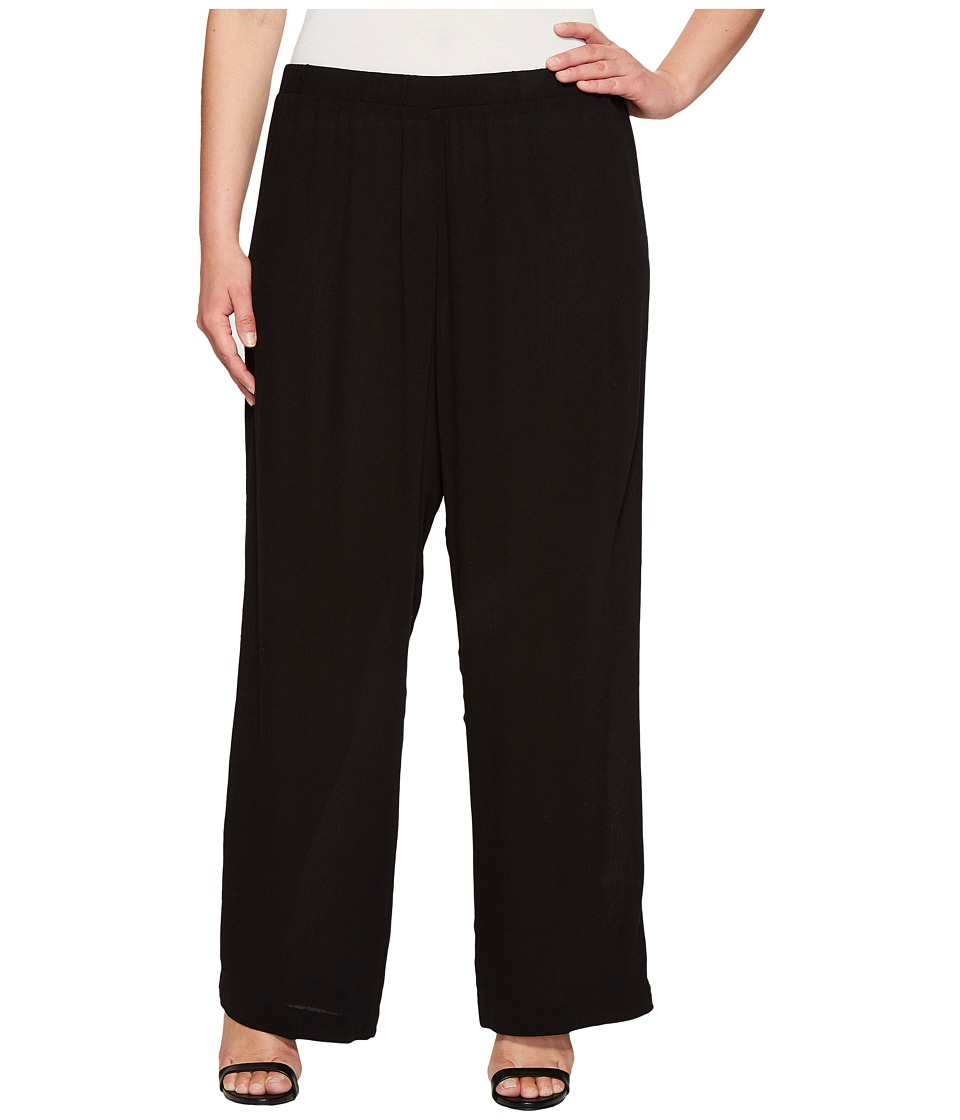 Karen Kane Plus - Plus Size Wide Leg Pants (Black) Women's Casual Pants