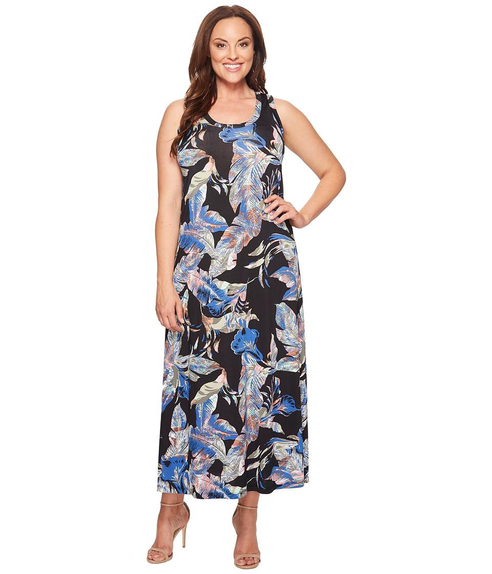Karen Kane Plus - Plus Size Maxi Tank Top Dress (Multicolor) Women's Dress