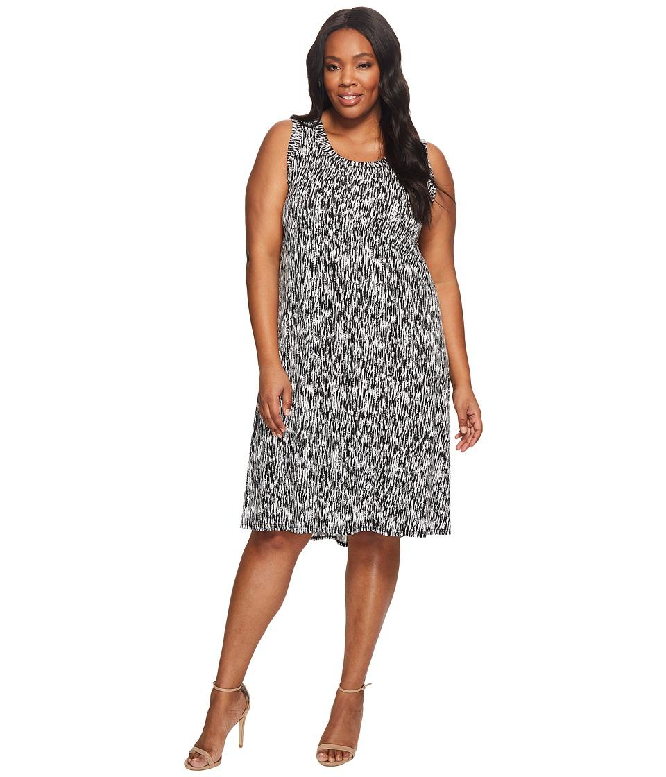 Karen Kane Plus - Plus Size Hi Lo Hem Dress (Print) Women's Dress