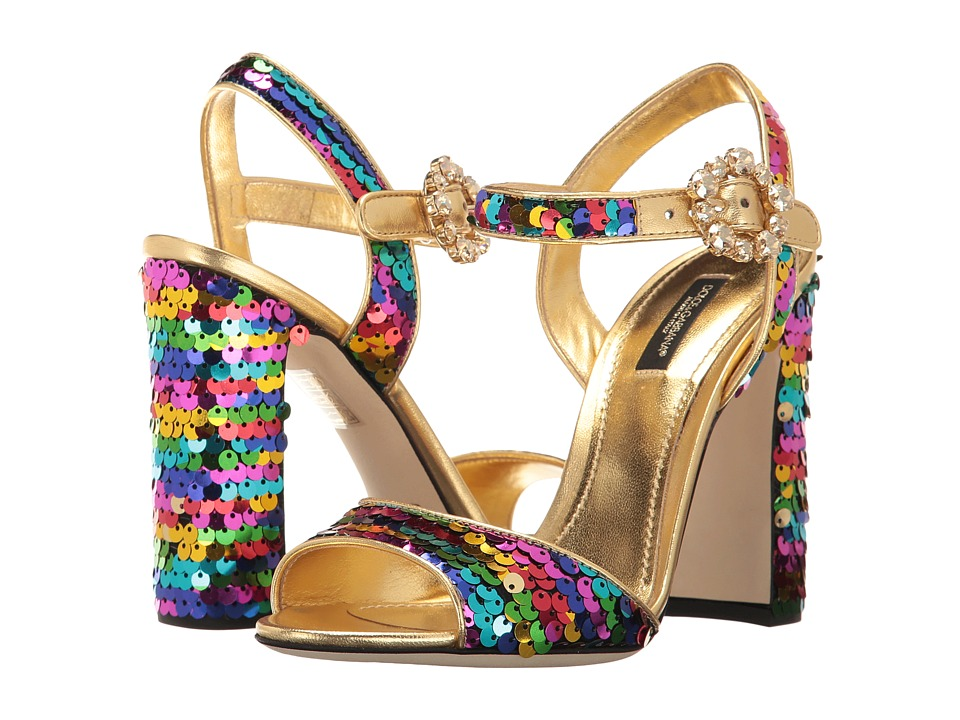 Dolce & Gabbana - Sequin 105mm Sandals (Multicolor) High Heels