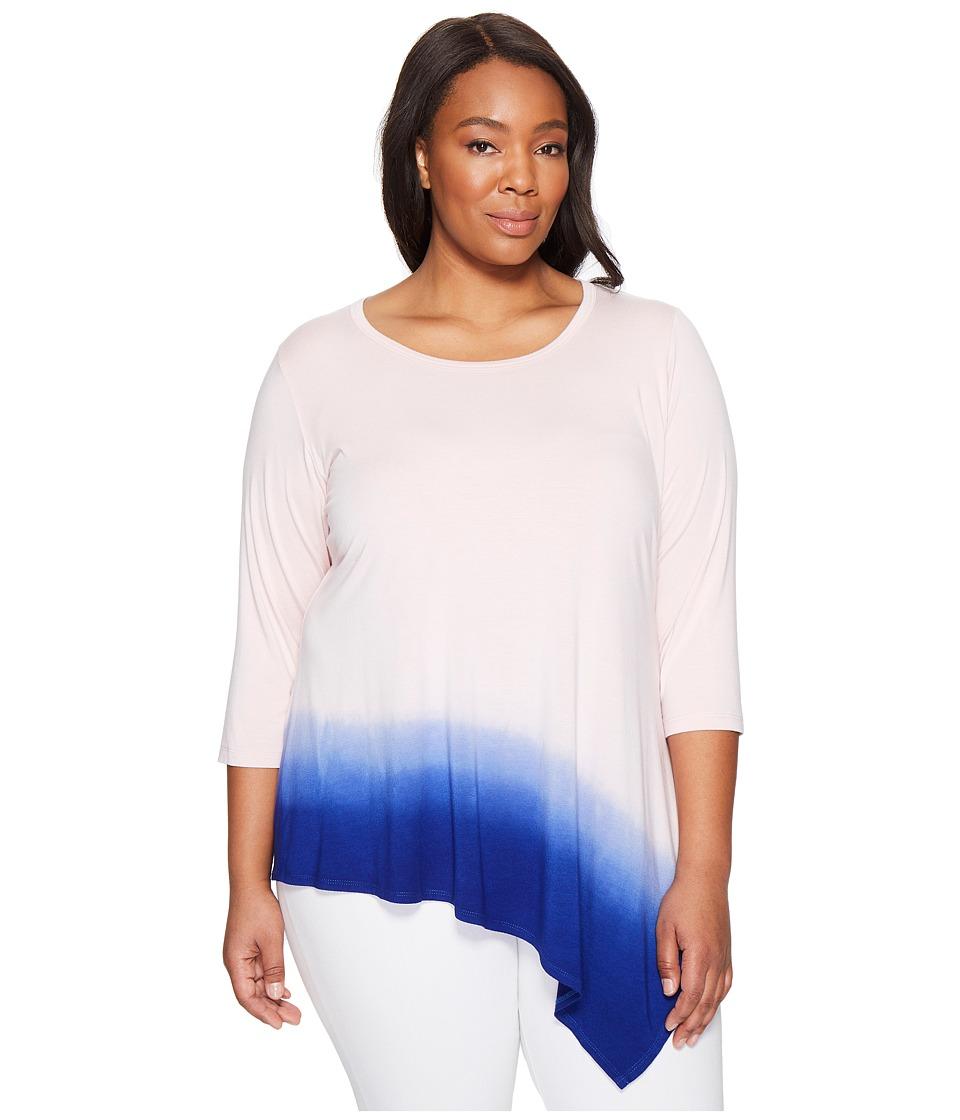 Karen Kane Plus - Plus Size Angle Hem Ombre Top (Shell) Women's Clothing