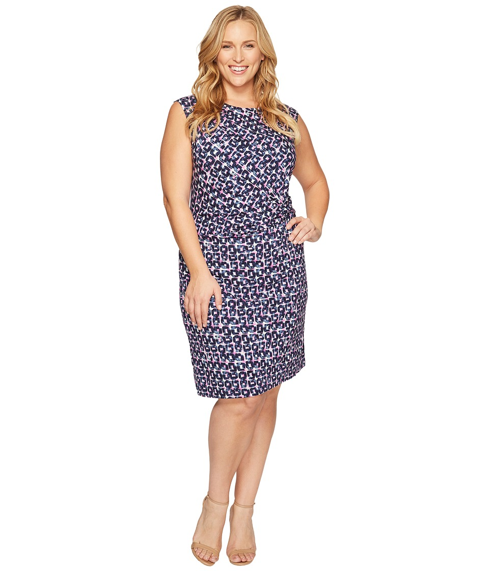NIC+ZOE - Plus Size Groundwork Twist Dress (Multi) Women's Dress