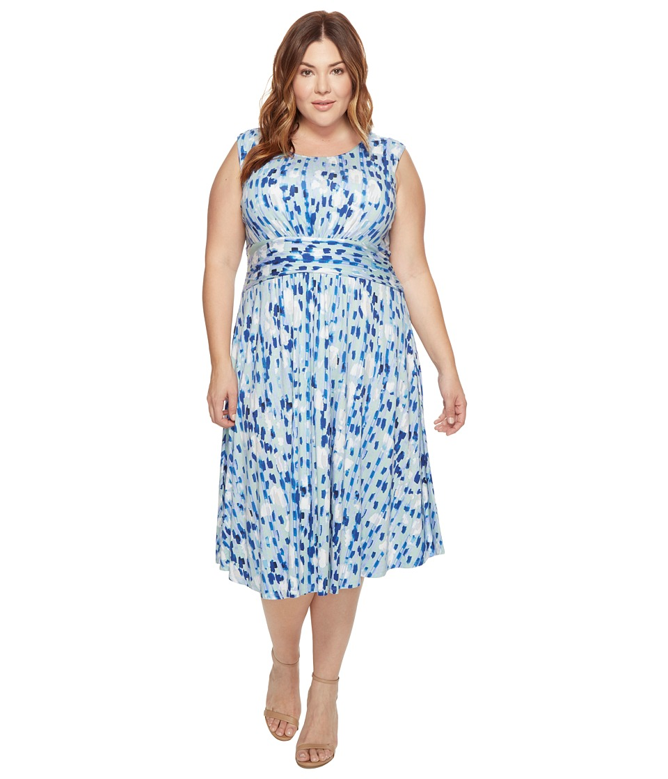 NIC+ZOE Plus Size Water Lane Dress (Multi) Women