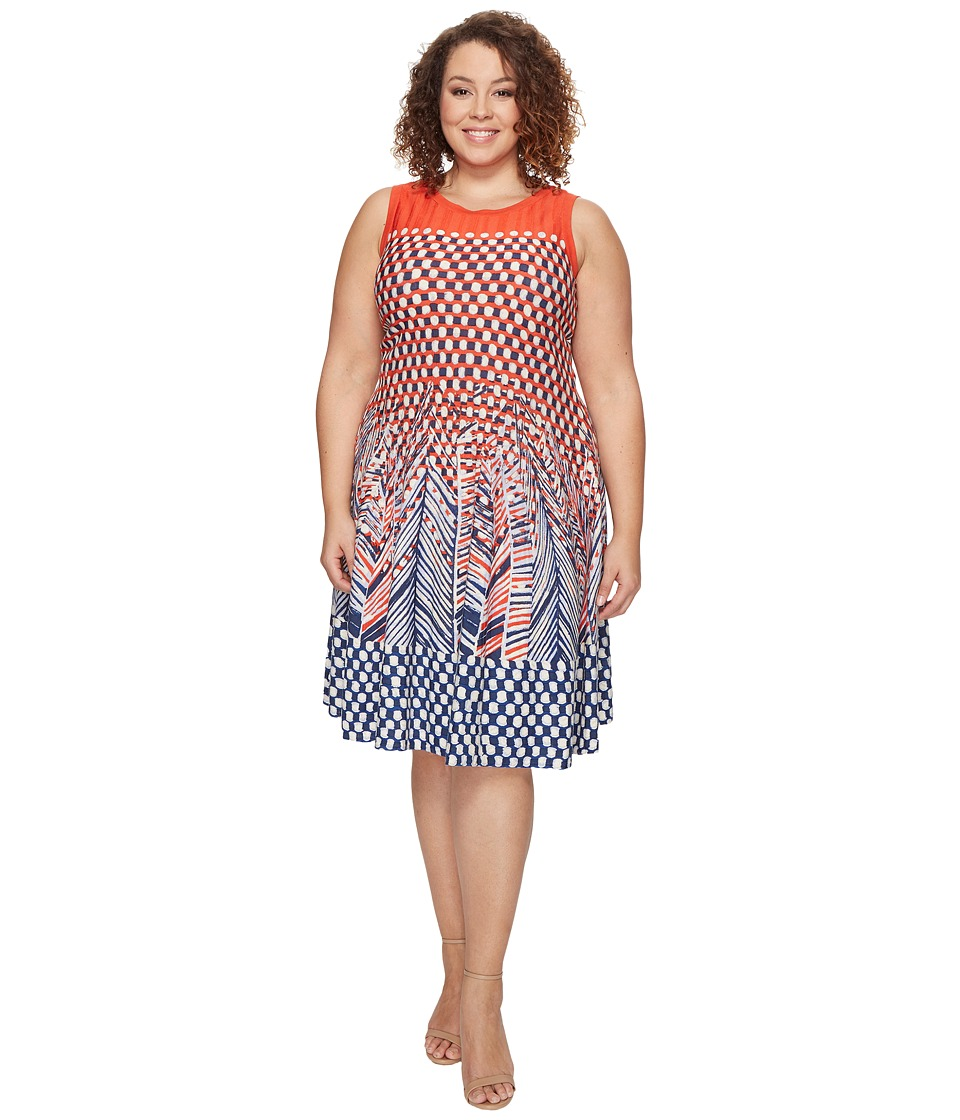 NIC+ZOE - Plus Size Fiore Twirl Dress (Multi) Women's Dress
