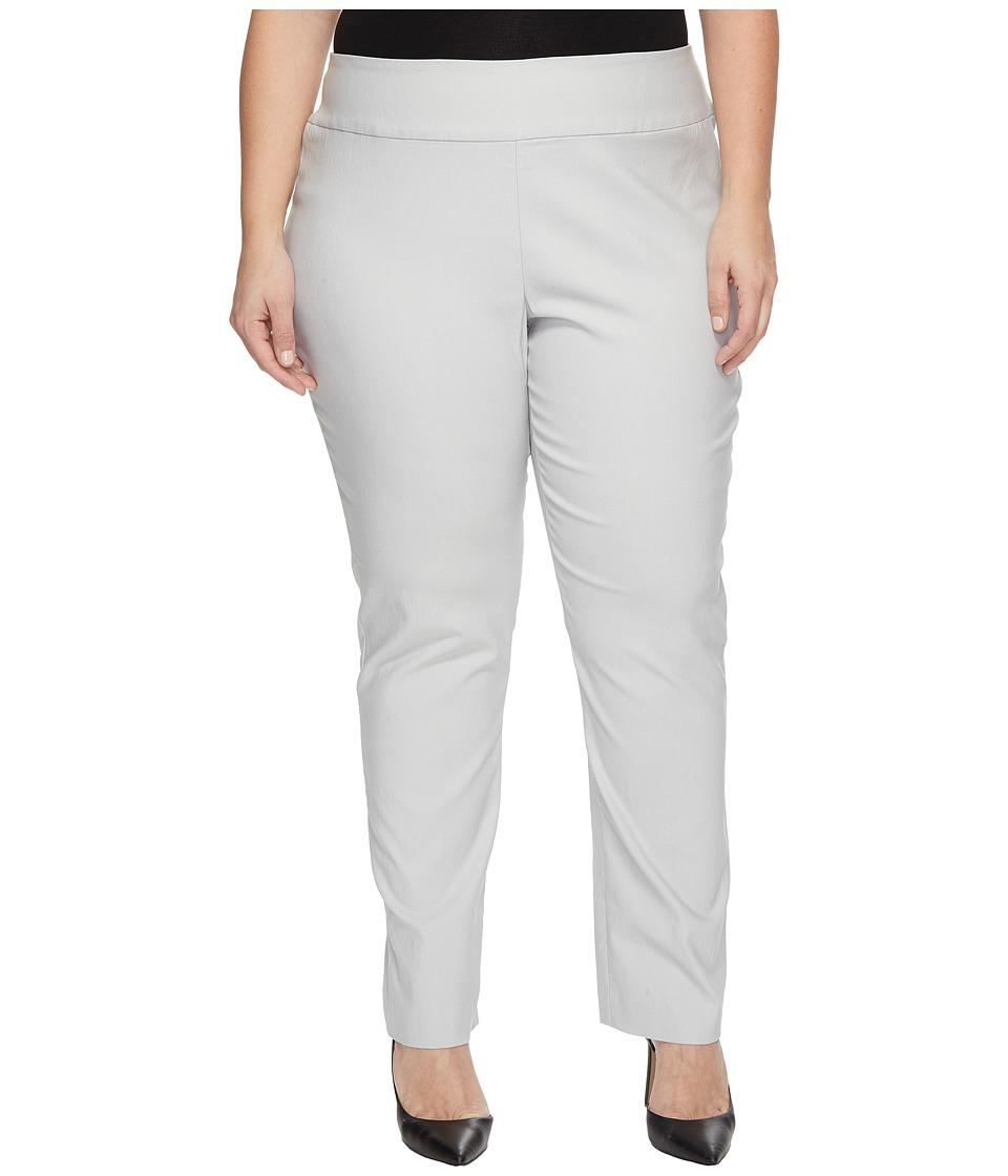 NIC+ZOE Plus Size Wonderstretch Pants (Smoke) Women