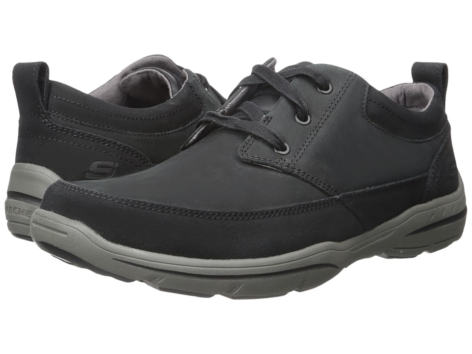 SKECHERS - Harper - Olney (Black) Men's Shoes