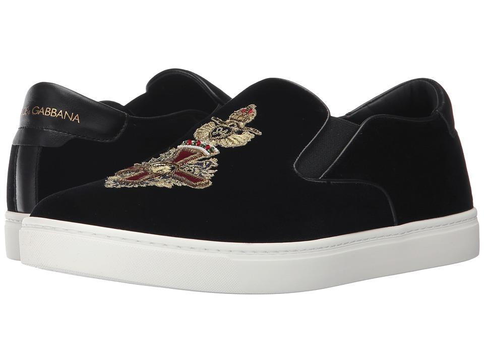Dolce & Gabbana Heraldic Sicily Sneaker (Black) Men