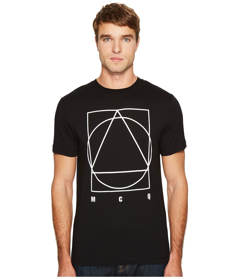 McQ - Triangle/Circle/Square T-Shirt (Darkest Black) Men's T Shirt