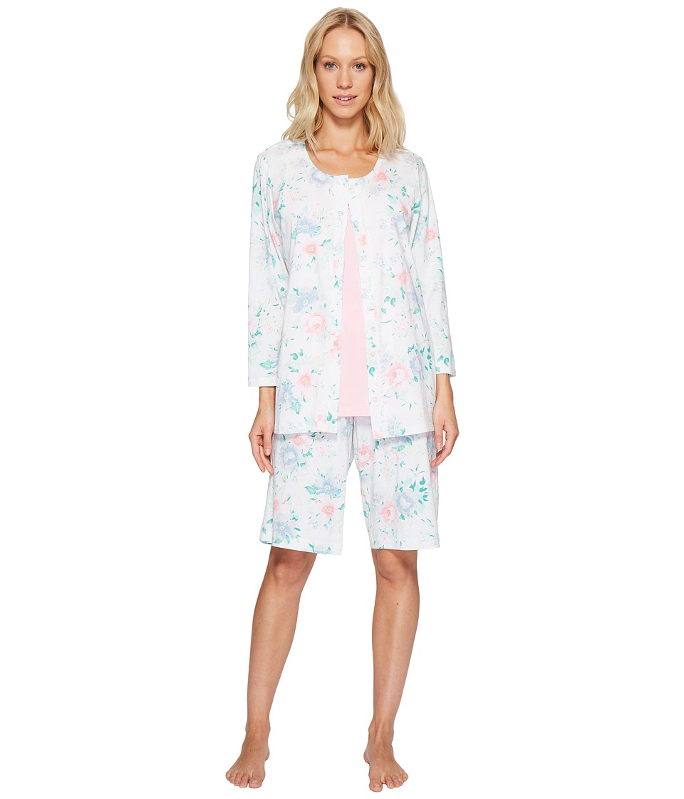 Carole Hochman - Three-Piece Bermuda Pajama Set (Joy Floral) Women's Pajama Sets