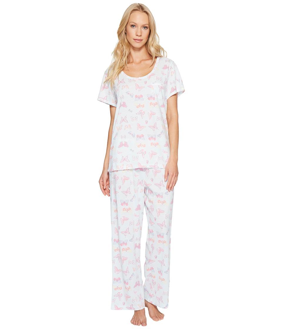 Carole Hochman - Key Item Capris Pajama (Butterfly) Women's Pajama Sets