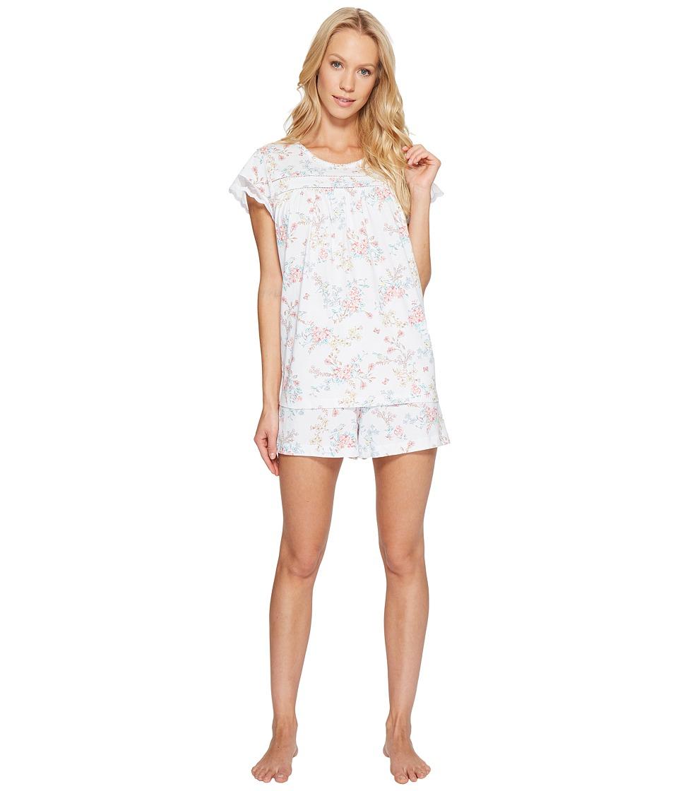Carole Hochman - Short Boxer Pajama (Bird Floral) Women's Pajama Sets