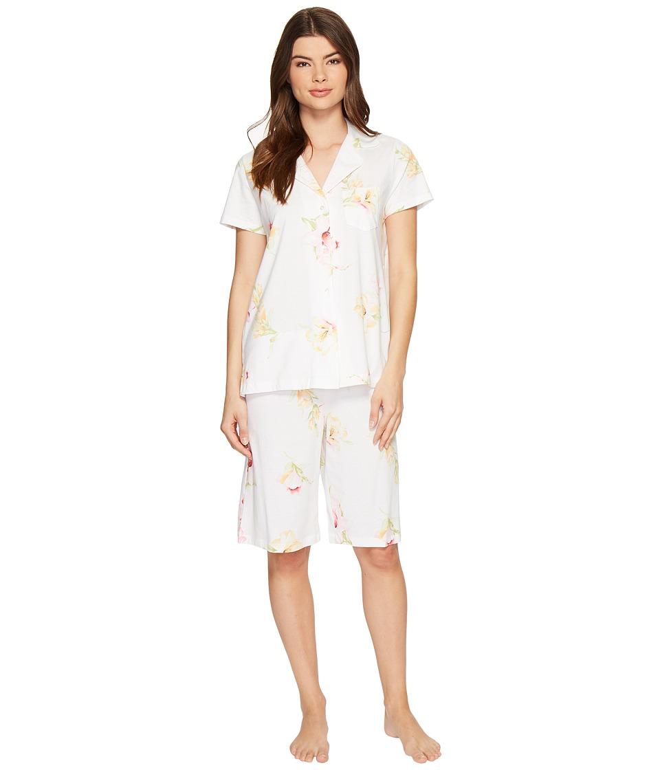 Carole Hochman - Knit Bermuda Pajama (Lilies) Women's Pajama Sets