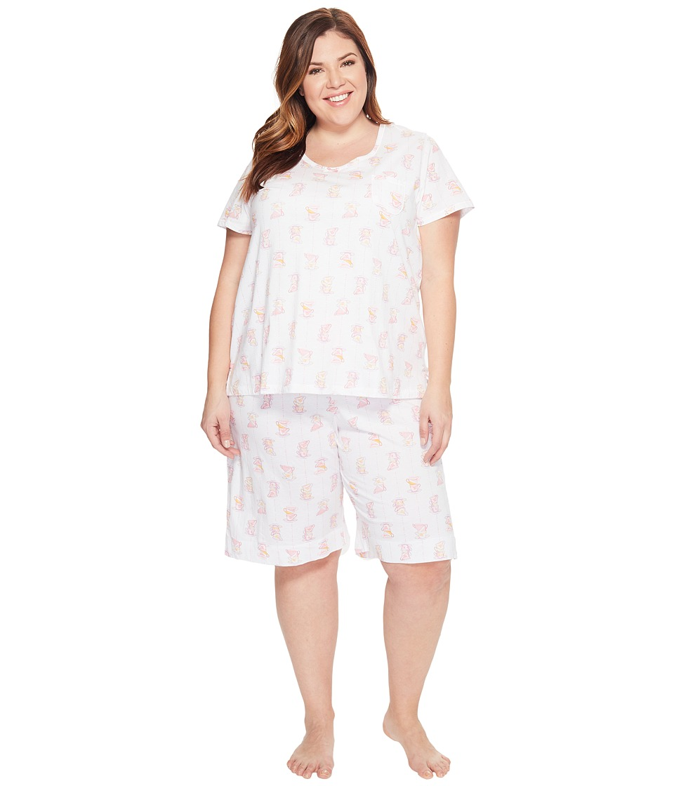 Carole Hochman - Plus Size Key Item Bermuda Pajama (Cups) Women's Pajama Sets
