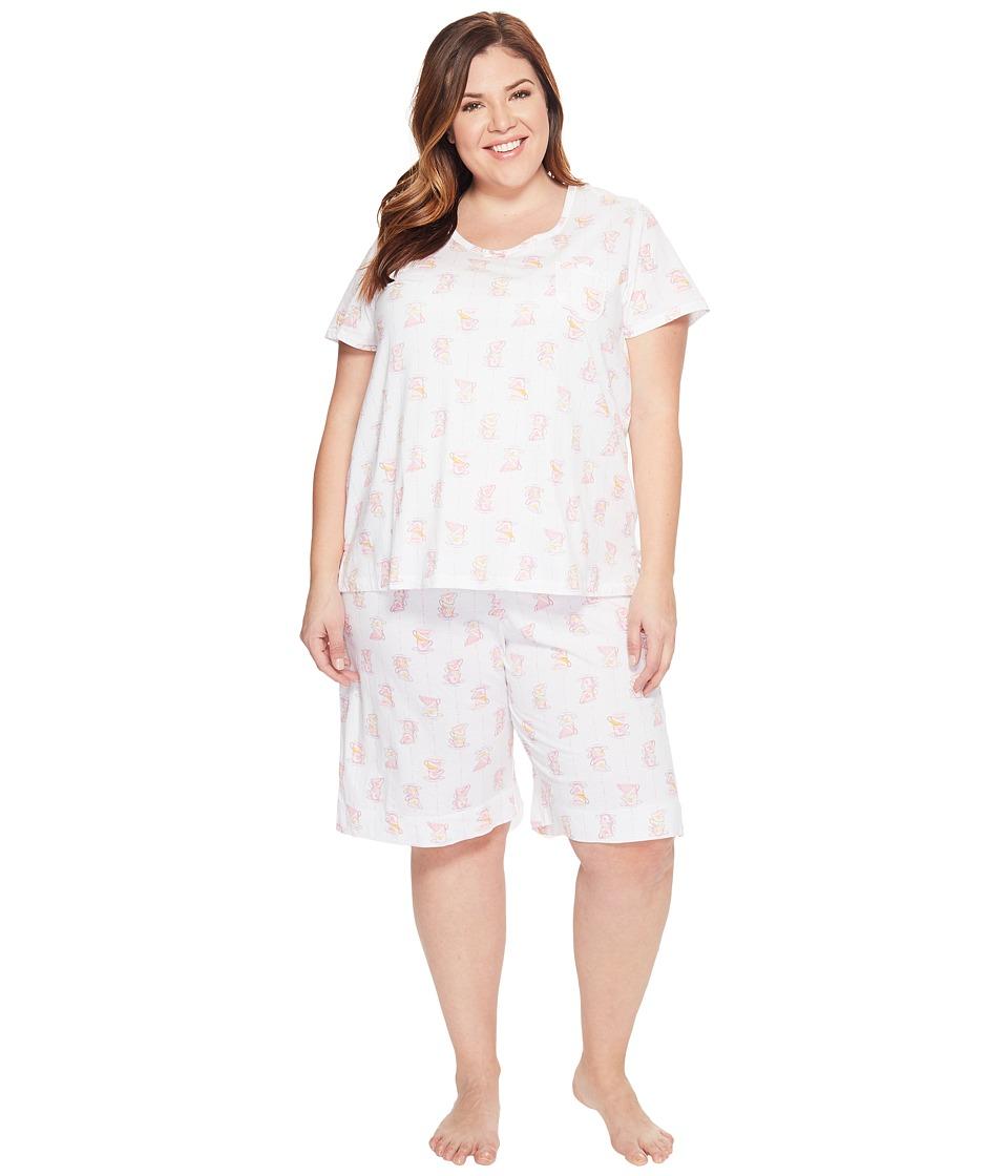 Carole Hochman - Plus Size Key Item Bermuda Pajama (Cups) Women's Pajama Sets