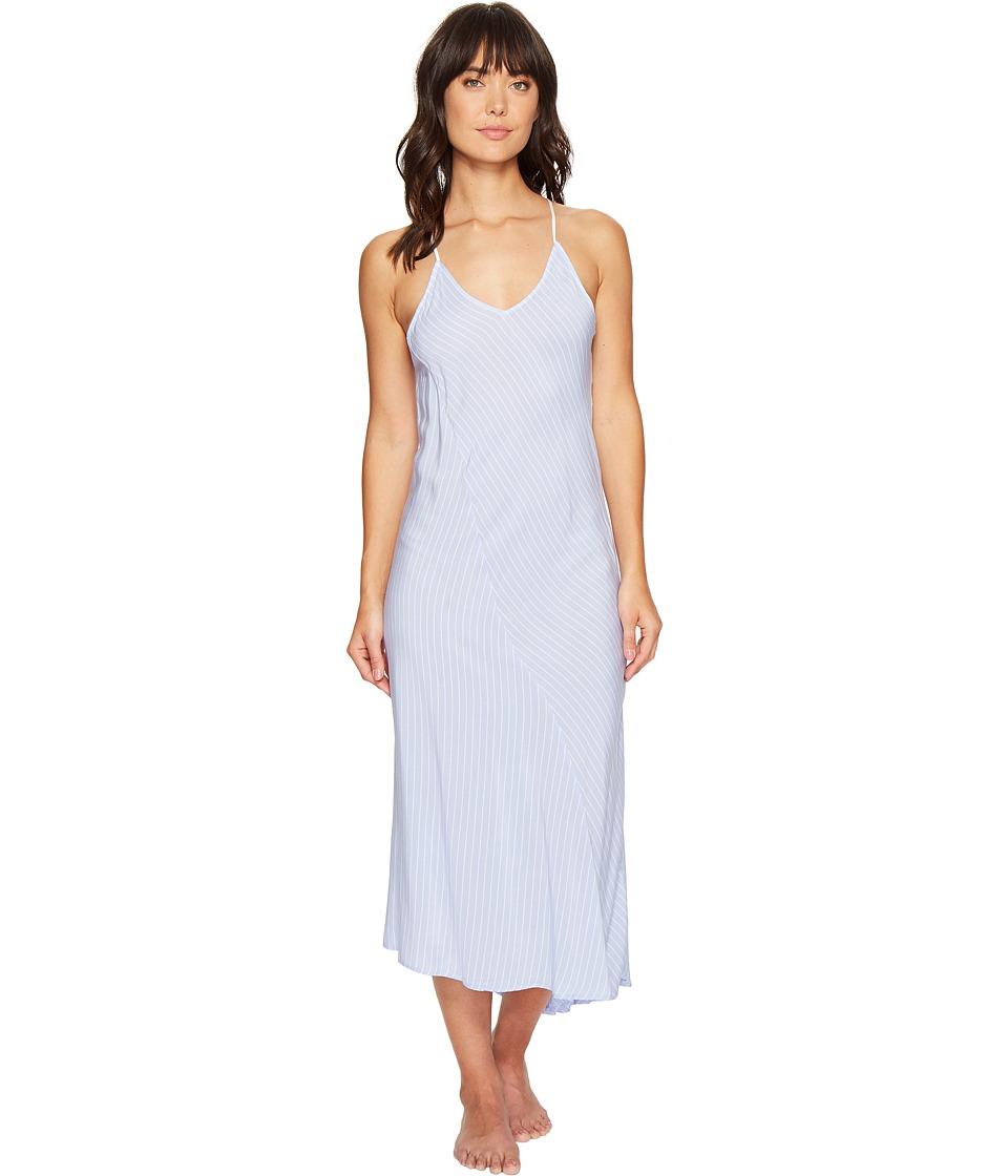 DKNY - Fashion Maxi Gown (Oxford Stripe) Women's Pajama