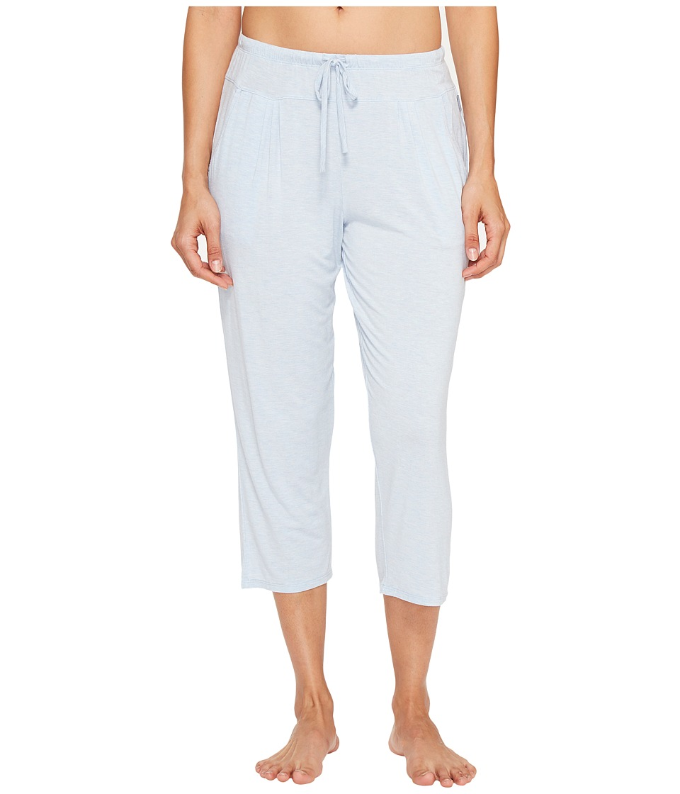 DKNY Fashion Modal Spandex Jersey Capris (Oxford Heather) Women