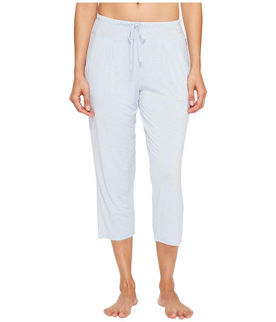DKNY Fashion Modal Spandex Jersey Capris (Oxford Heather) Women